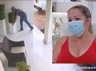familia cubana de hialeah gardens pide ayuda para identificar a hombre que le robo unos maceteros valorados en $800