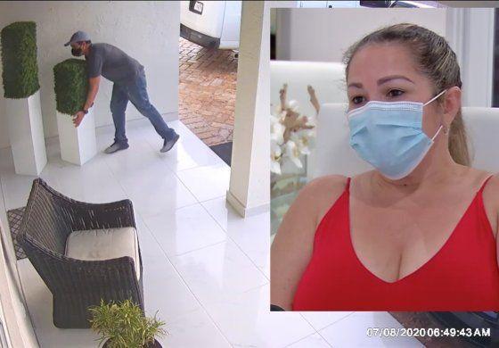 Familia cubana de Hialeah Gardens pide ayuda para identificar a hombre que le robó unos maceteros valorados en $800