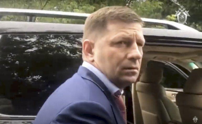 Protestas en Rusia contra arresto de gobernador