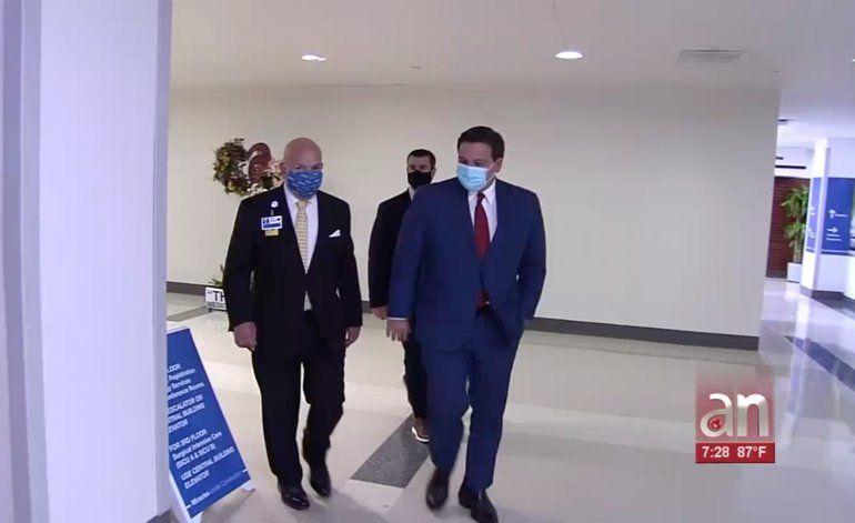 El gobernador de la Florida, Ron Desantis, asegura que hay más casos de coronavirus en el estado porque hay más pruebas