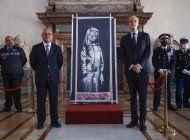 italia regresa a francia banksy robado el dia de la bastilla
