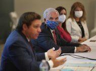 alcaldes locales se reunen con el gobernador de la florida tras incremento de casos de coronavirus