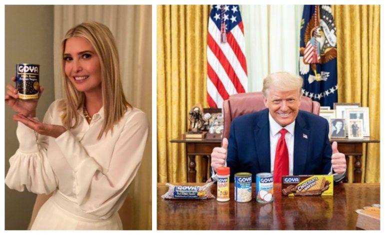 En pleno llamado a boicot, El presidente Donald Trump y su hija Ivanka  tuitean en apoyo a Goya Foods