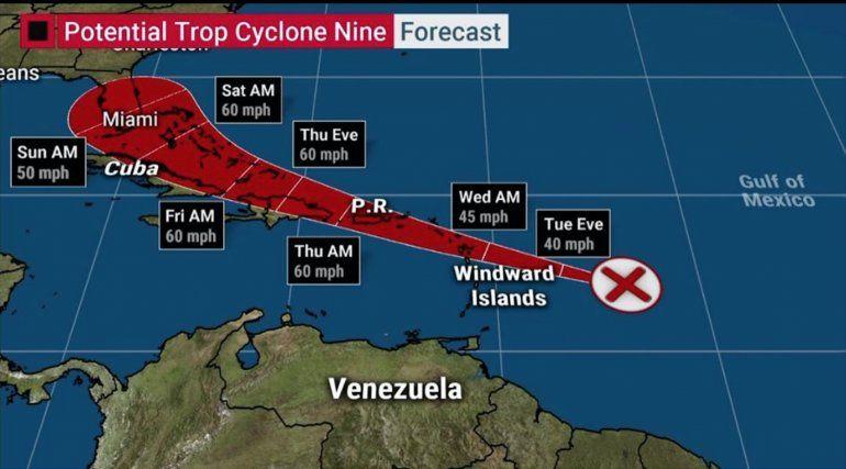 Nueva perturbación tiene altas posibilidades de convertirse en tormenta tropical