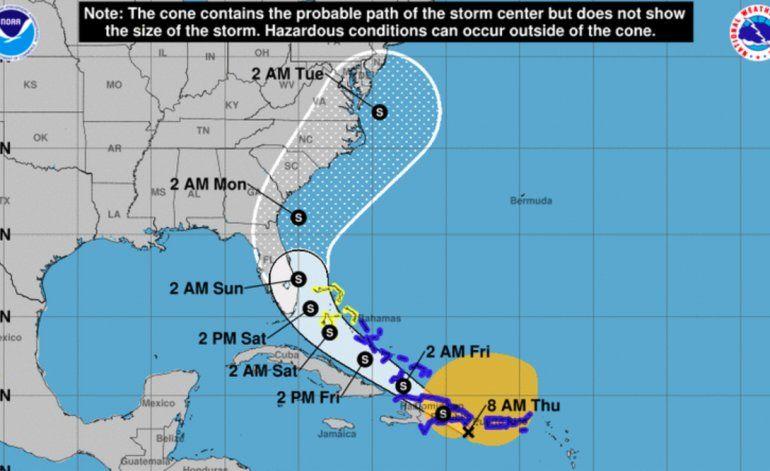 Tormenta tropical Isaías gana fuerza y continúa su curso hacia aguas del sureste de Florida
