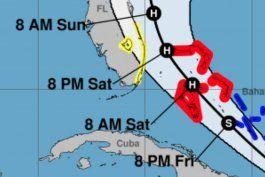 huracan isaias pasa por las bahamas; florida se prepara