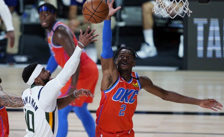 Gilgeous-Alexander anota 19 y Thunder supera a Jazz.