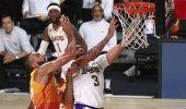 Lakers derrotan al Jazz 116-108 y lideran el oeste
