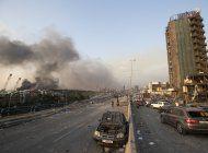 explosion en beirut deja mas de 70 muertos y 3.000 heridos