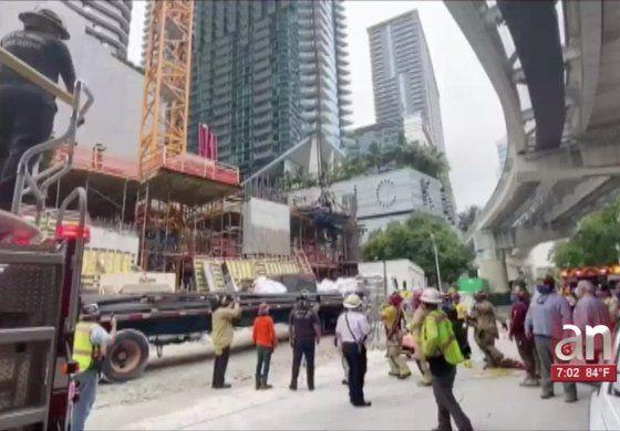 Accidente en edificio en construcción en Brickell deja a seis obreros gravemente heridos