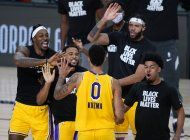 los lakers ganan a los nuggets con un triple de kuzma