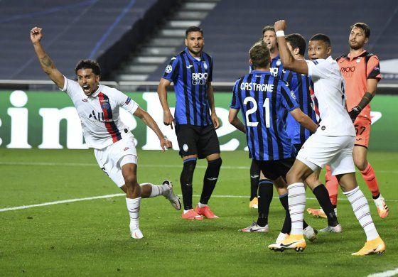 Con reacción postrera, PSG vence al Atalanta en la Champions