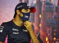 f1: sergio perez regresa en espana tras dar negativo