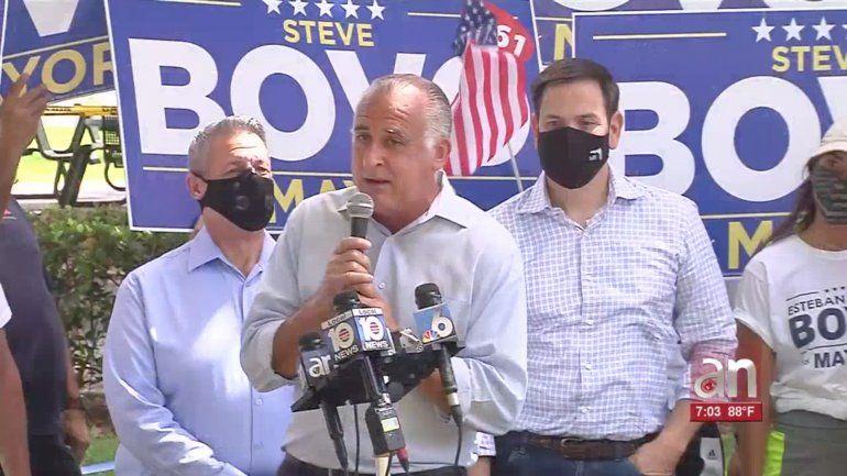 Senador Marco Rubio apoya al candidato Esteban Bovo para alcalde del condado Miami-Dade
