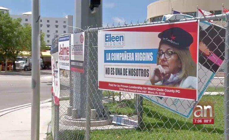 Aparecen carteles de la candidata Eileen Higgins con una boina del Ché Guevara