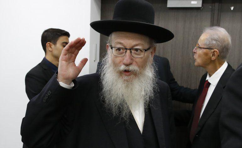 Renuncia ministro israelí en protesta por restricciones