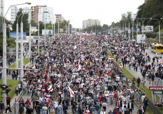 Aumentan las protestas contra gobernante de Bielorrusia