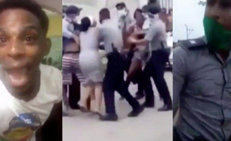 Salen nuevas imágenes del violento enfrentamiento entre vecinos y policías en el barrio de Marianao