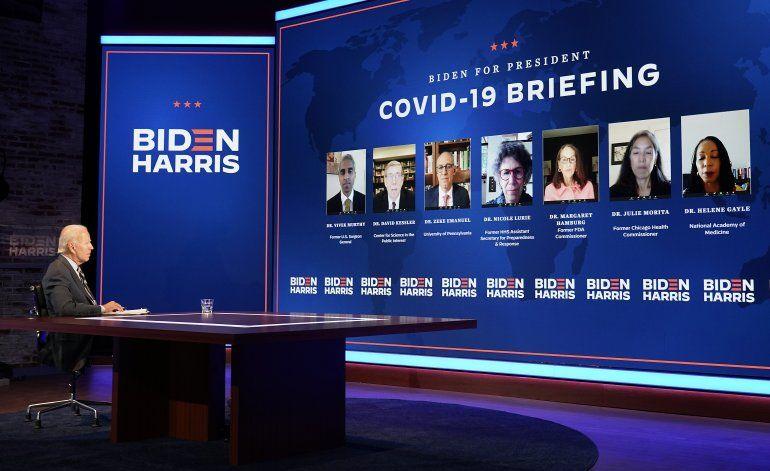 Biden recibe asesoramiento sobre lucha contra coronavirus