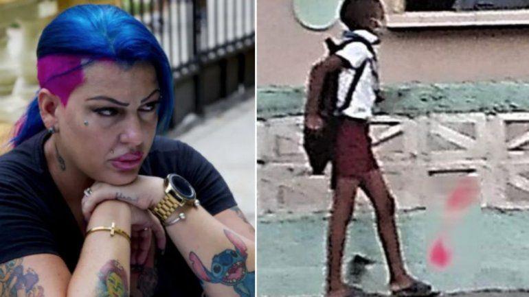 La cantante cubana La Diosa pide ayuda para localizar al niño que aparece en una foto viral en las redes sociales donde se le ve que va a la escuela en chancletas por no tener zapatos