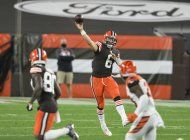 mayfield lanza 2 pases de anotacion, browns ganan a bengals