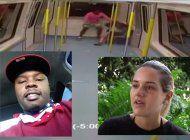 exclusiva: video de vigilancia muestra la brutal golpiza que recibio una joven colombiana a manos de un afroamericano en el metromover de brickell