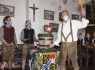 por coronavirus, los bavaros inician un oktoberfest moderado