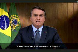 bolsonaro denuncia campanas de desinformacion en la onu