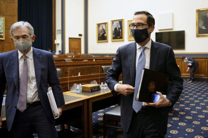 Powell y Mnuchin respaldan más ayuda económica del gobierno