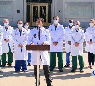 Donald Trump lleva 24 horas sin fiebre, no necesita suministro de oxígeno