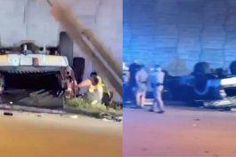 nuevos detalles: gravemente herido el chofer de la camioneta que cayo desde la autopista palmetto en hialeah