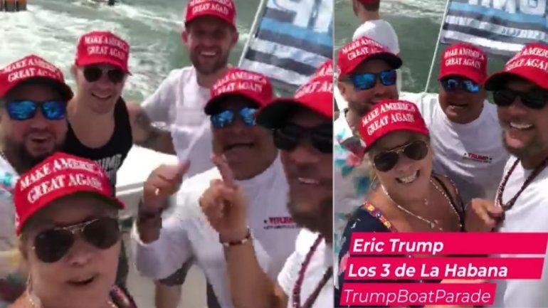 Hijo de Trump compartió bote con Los 3 de La Habana en Miami