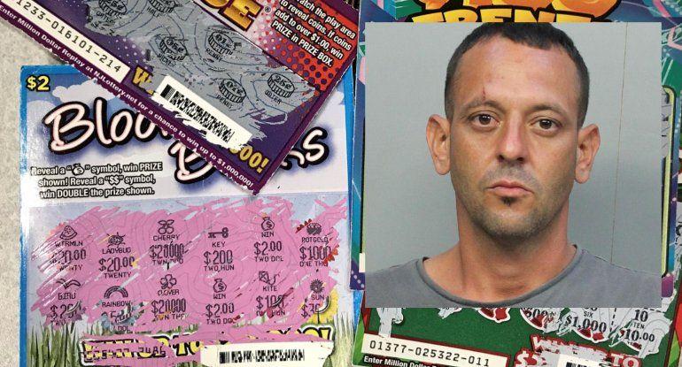 Tras las rejas un hombre que robó de un supermercado de Hialeah 60 raspaditos valorado en $500