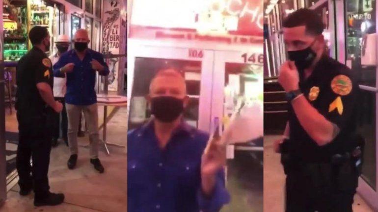 Se caldean los ánimos entre el dueño de Cuba Ocho y la Policía de la Ciudad de Miami