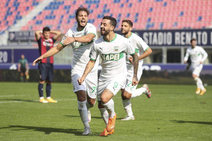 Sassuolo remonta un 3-1 y derrota 4-3 a Bologna