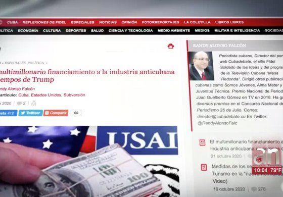 El régimen cubano ataca a América Tevé,  a publicaciones digitales independientes y organizaciones del exilio