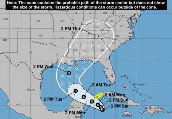Se forma depresión tropical al sur de Cuba; prevén aumente