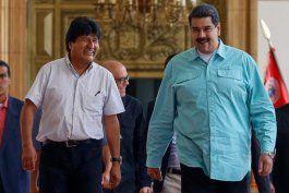 nicolas maduro confirmo que evo morales estuvo en venezuela el fin de semana