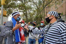 protestan en nueva york contra inclusion de cuba en consejo de dd.hh.