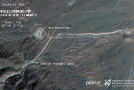 fotos satelitales muestran obras en planta nuclear en iran