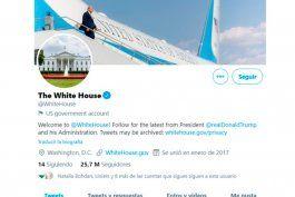 twitter entregara las cuentas oficiales de la presidencia estadounidense a biden aunque trump no acepte la derrota