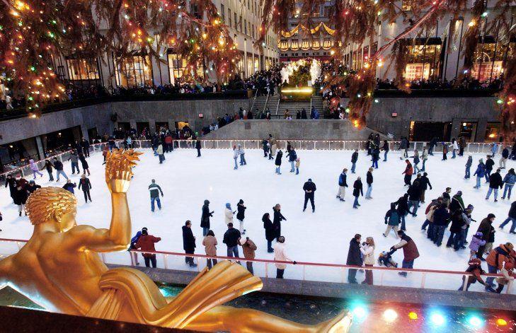 Abre la pista de hielo del Rockefeller Center