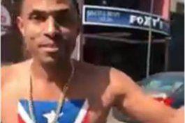 actor de republica dominicana se pasea con bandera boricua pintada en el pecho