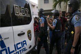 lista la policia para la protesta del lunes