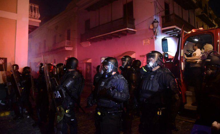 Identifican a arrestados durante manifestación