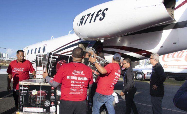 Salen las primeras ayudas para las Bahamas desde Puerto Rico
