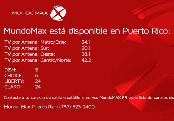 Dónde ver MundoMAX Puerto Rico