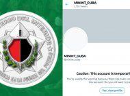 twitter restringe la cuenta del minint tras detectar una actividad inusual