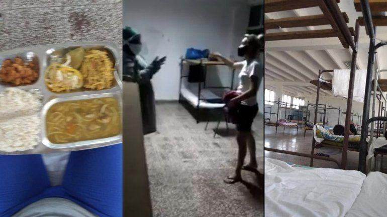 Salen a la luz imágenes de las condiciones en que se encuentran viviendo cubanos en un centro de aislamiento en Cienfuegos