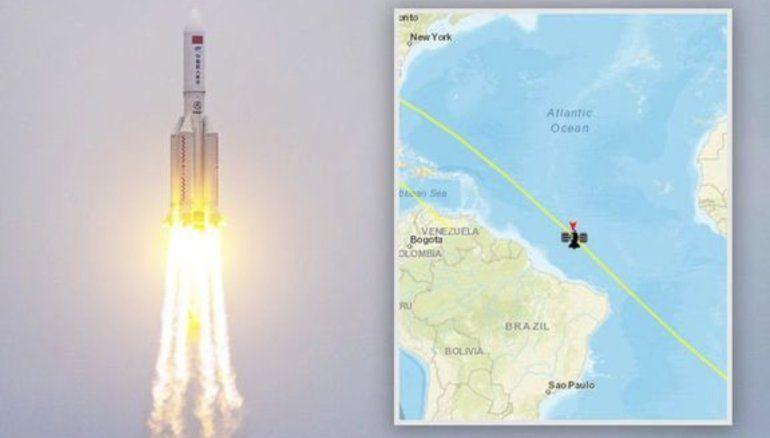 Cohete chino fuera de control se aproxima a la Tierra